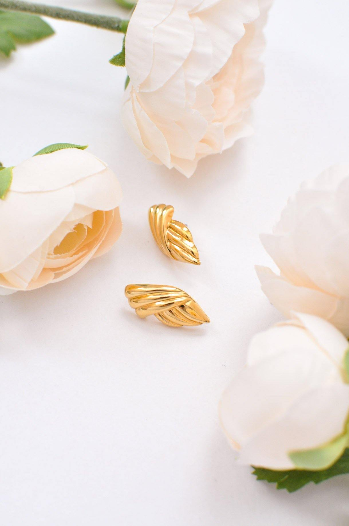 Vintage Draped Pierced Earrings from Sweet and Spark.