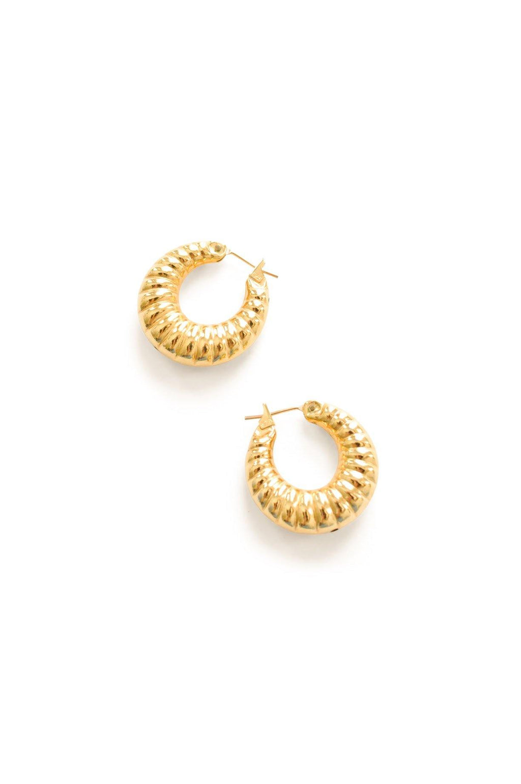 Tube Hoop Pierced Earrings