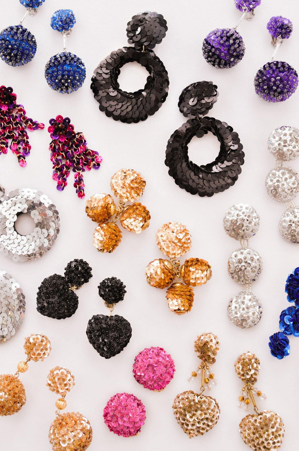Sequin Hoop Clip-on Earrings