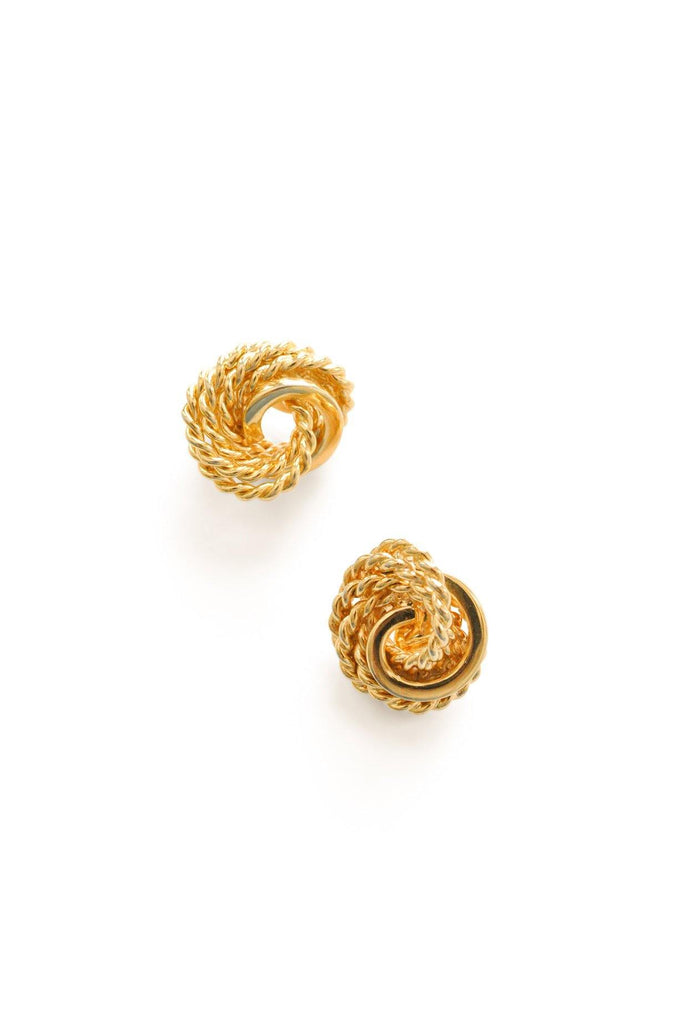 Rope Knot Clip-On Earrings