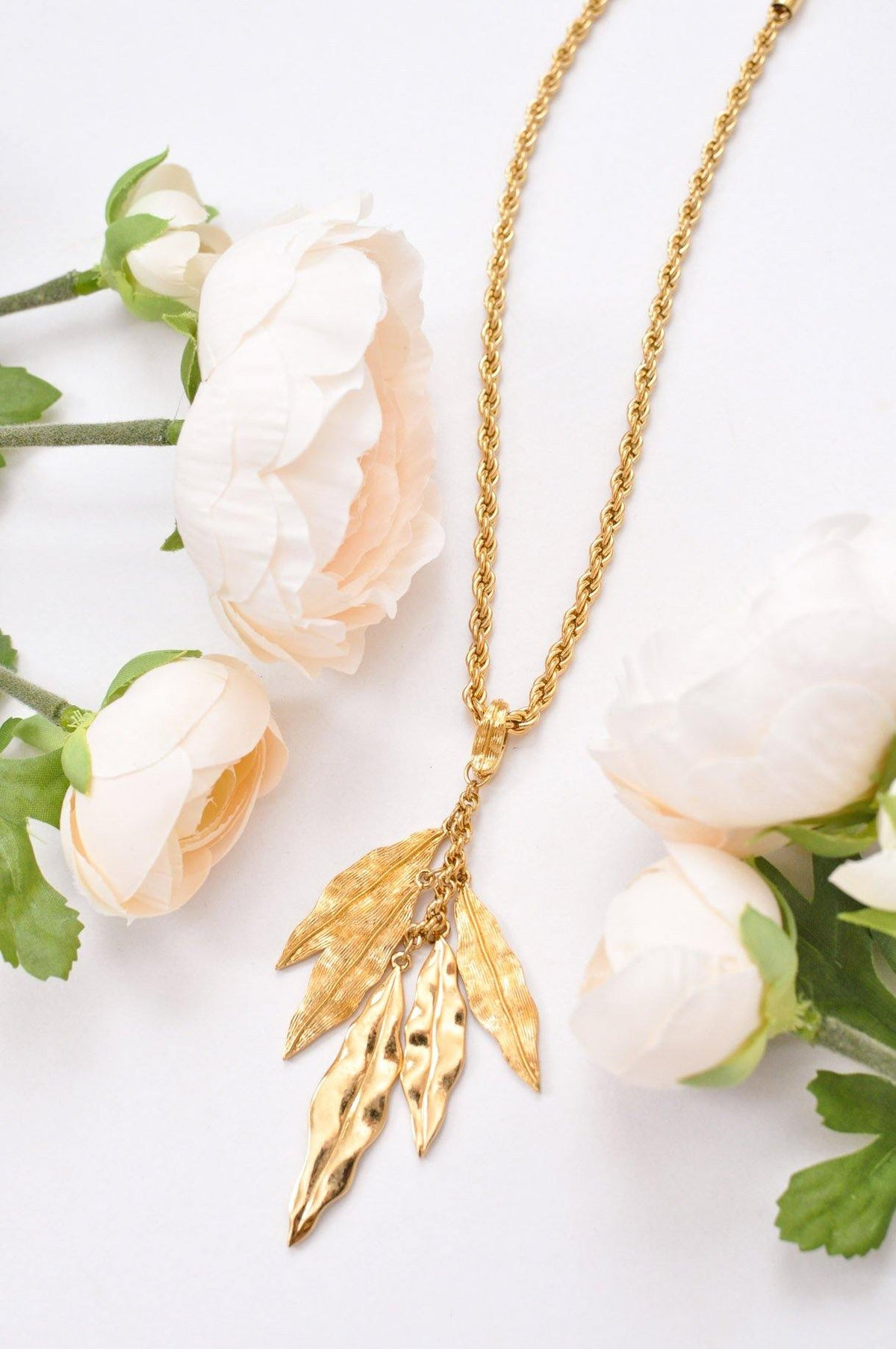 Vintage Multi Feather Pendant Necklace from Sweet and Spark.
