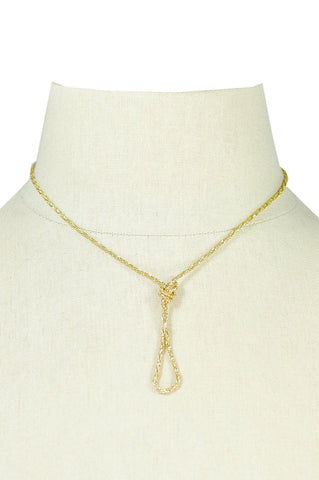 70's__Vintage__Gold Knot Necklace