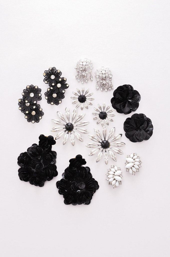 Oversized Floral Pierced Earrings