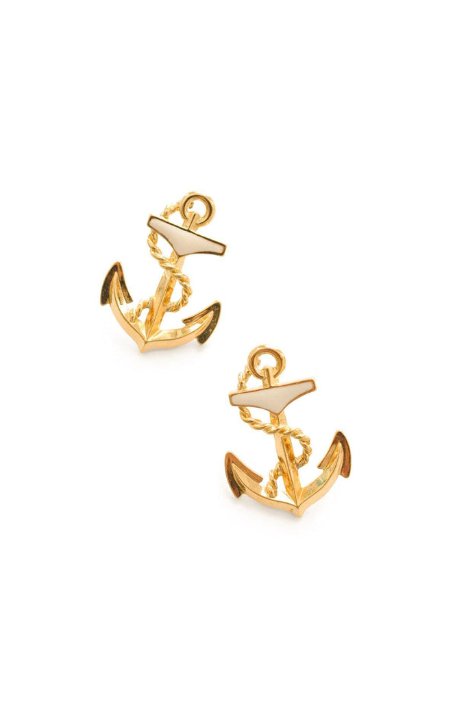 Anchor Pierced Earrings