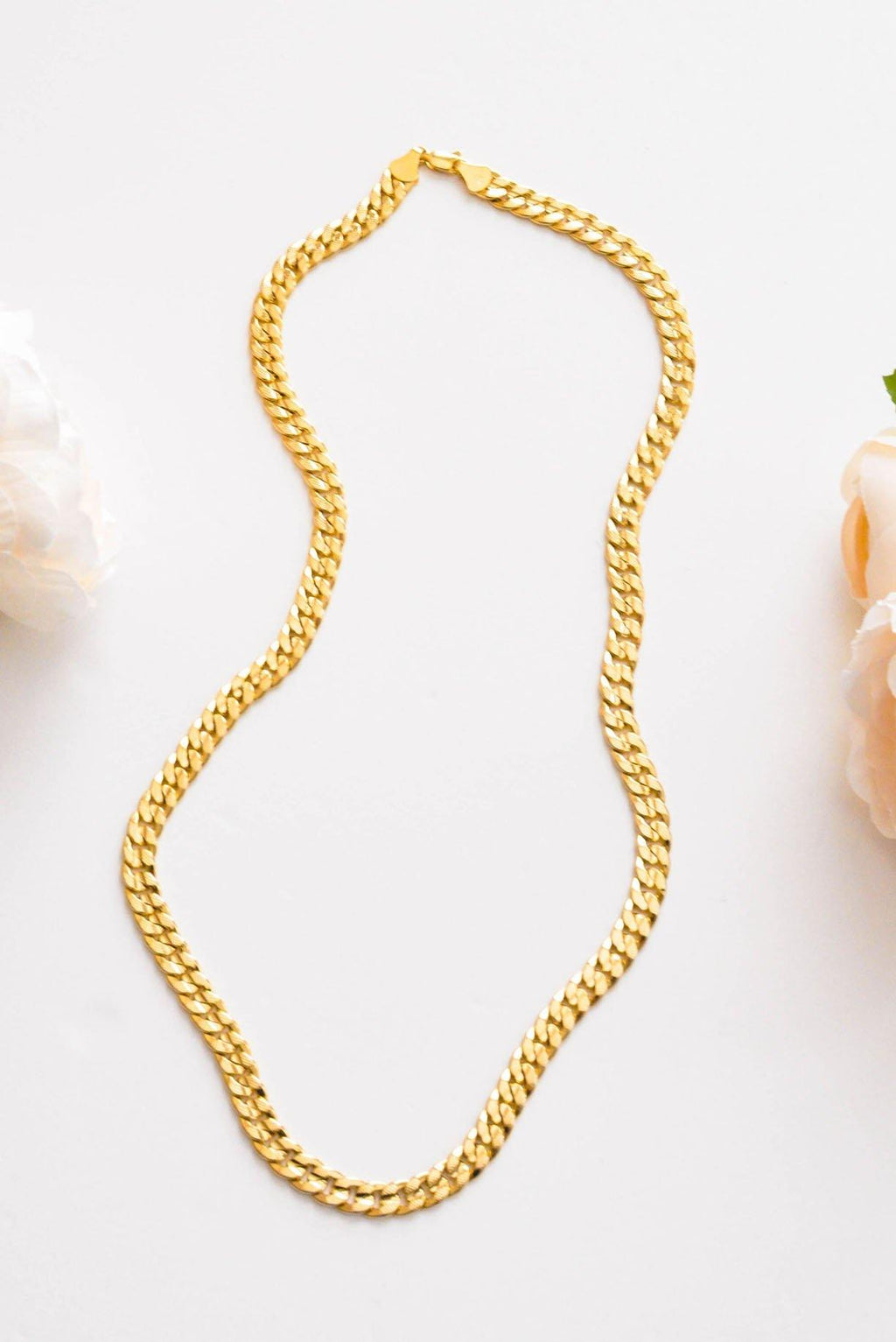 Textured Curb Link Necklace