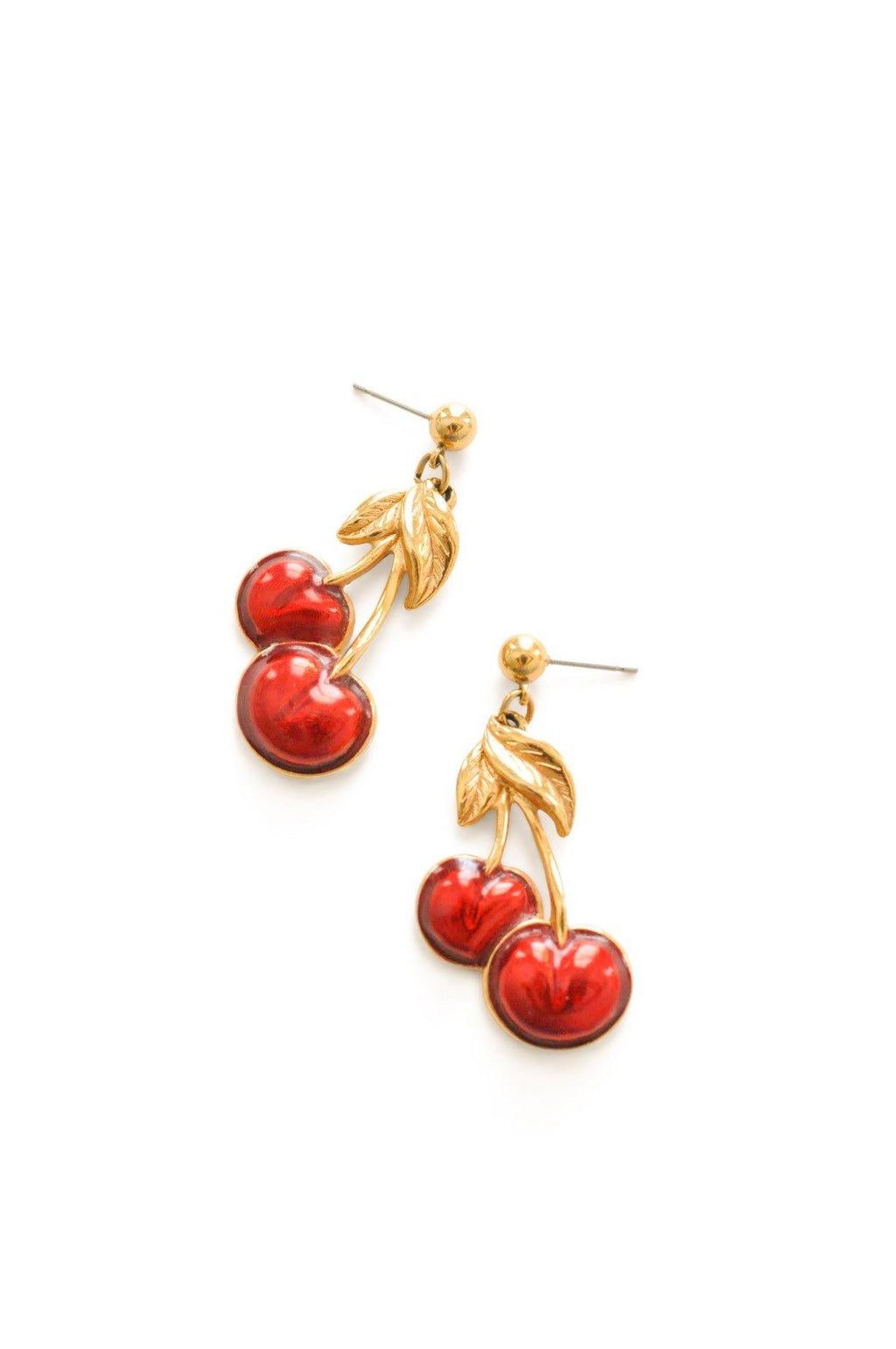 Cherry Pierced Earrings