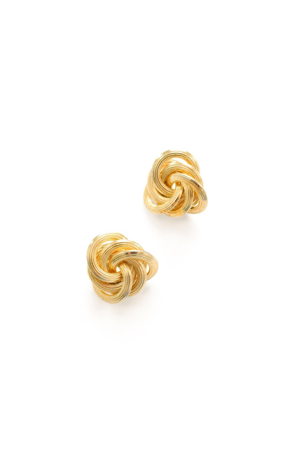 Statement Love Knot Pierced Earrings