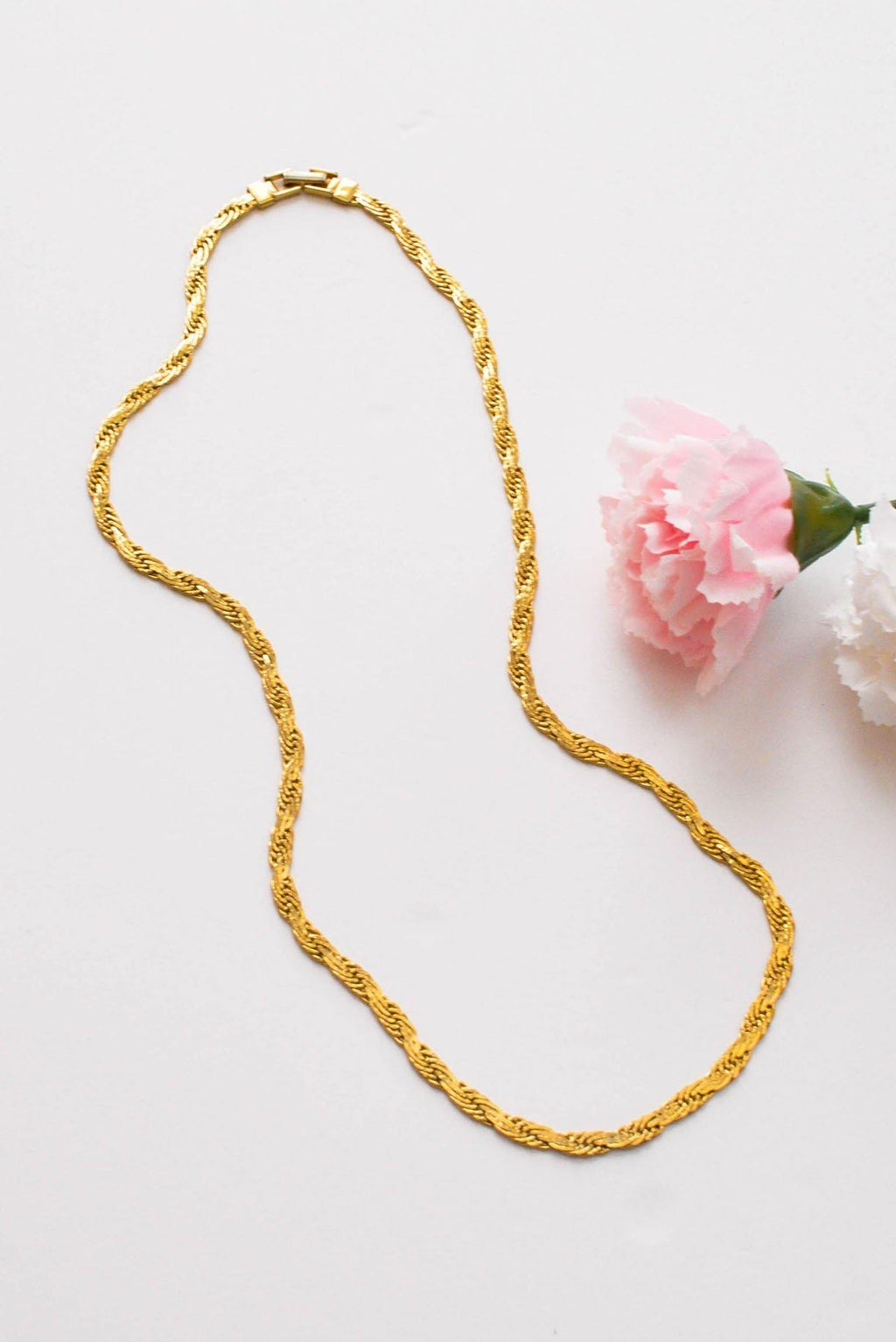 Flat Braided Chain Necklace