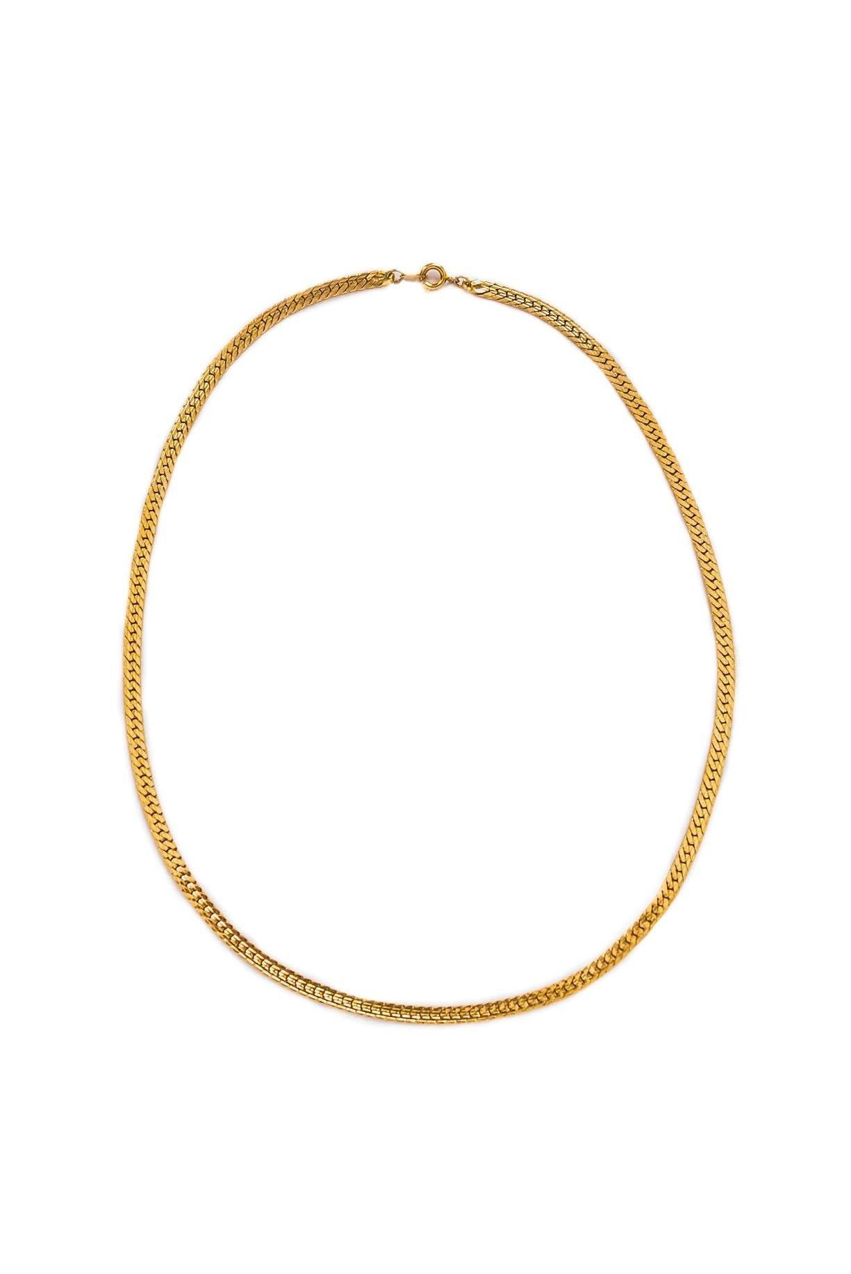 Vintage Dainty Herringbone Chain Necklace from Sweet and Spark
