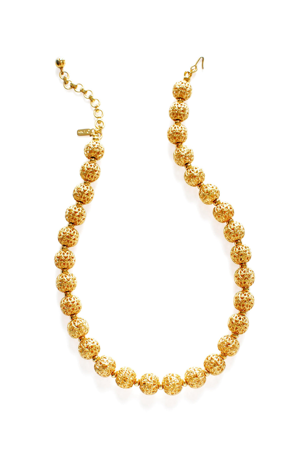 Monet Gold Filigree Balls Necklace