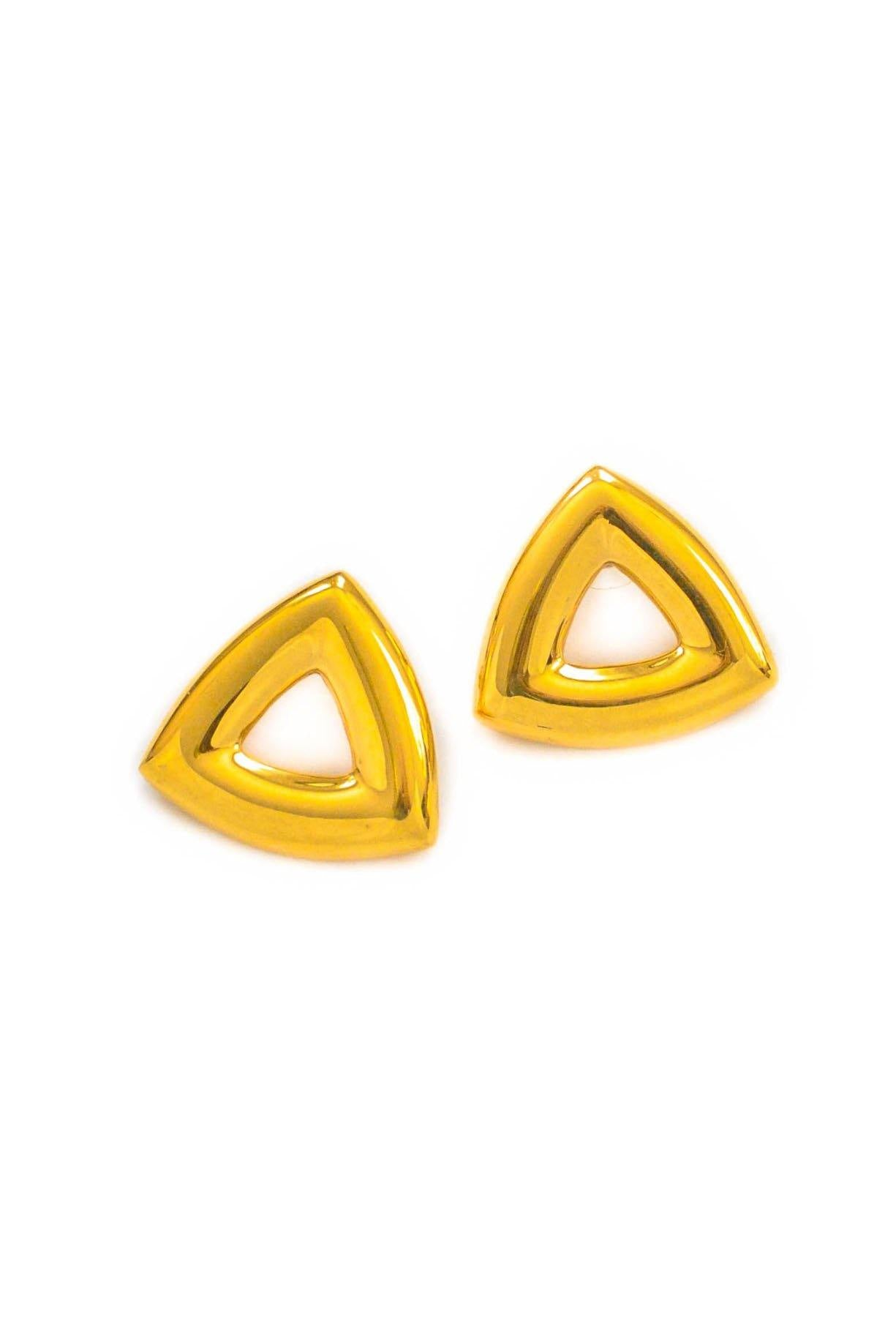 Vintage Triangle Pierced Earrings from Sweet and Spark