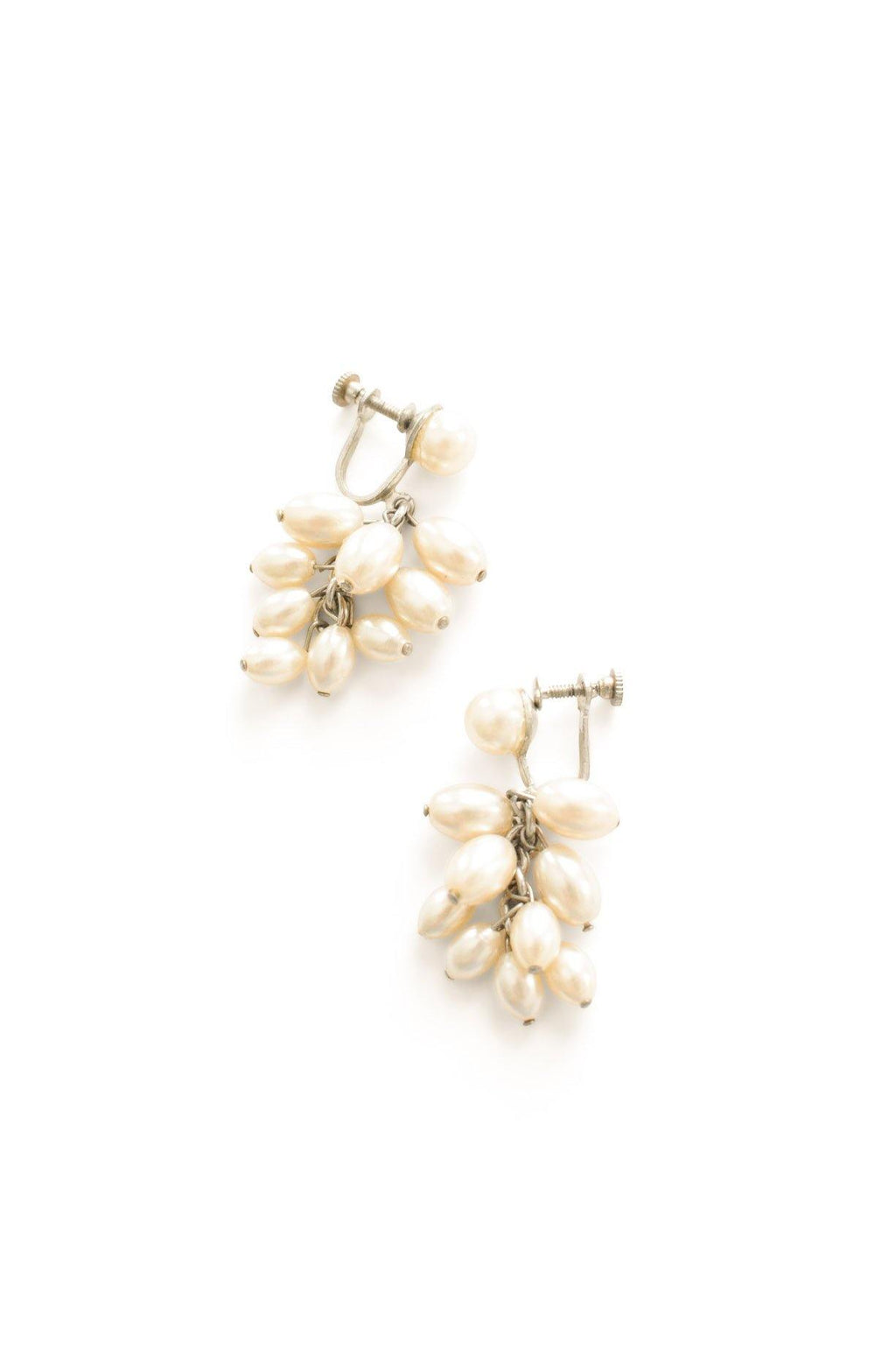 Pearl Drop Clip-on Earrings