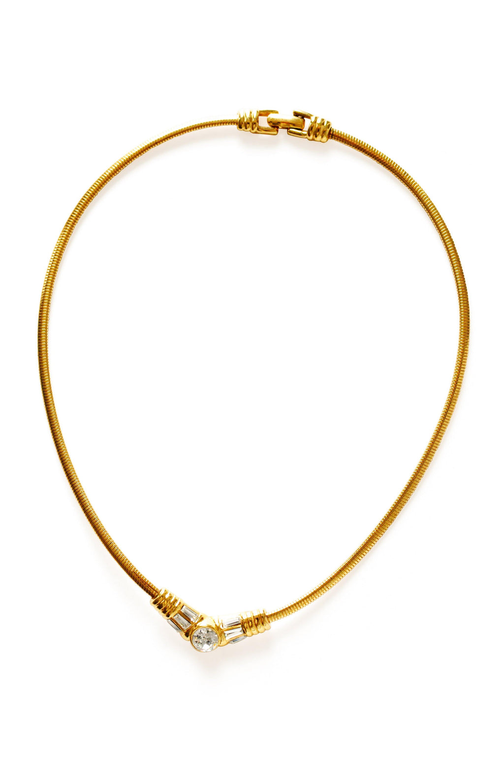 Monet Rhinestone Gold Necklace