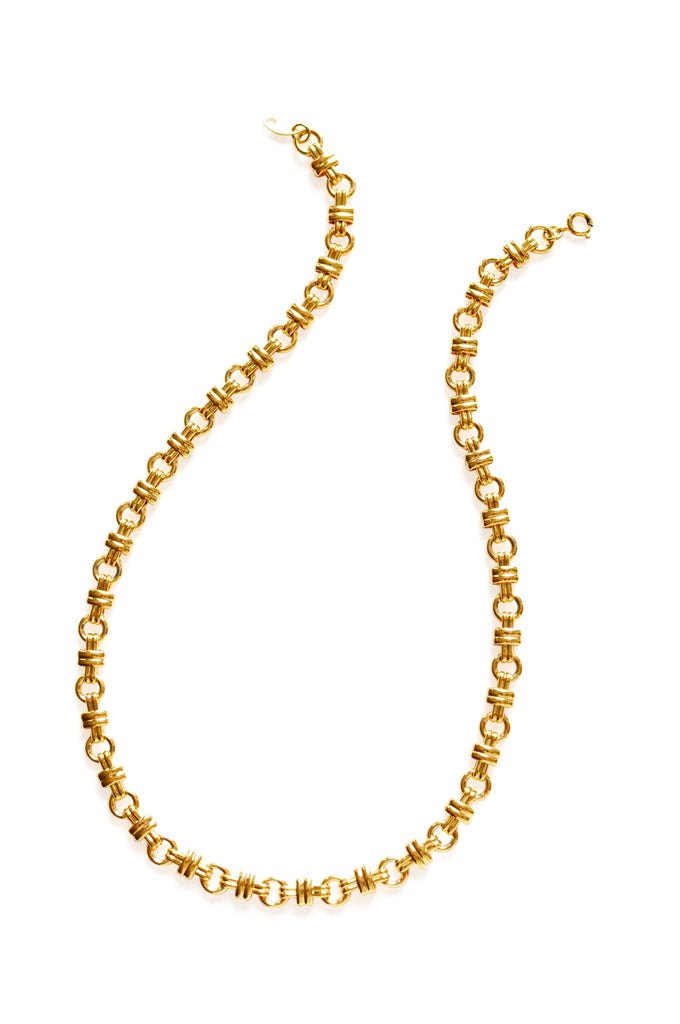 Trifari Gold Open Link Necklace