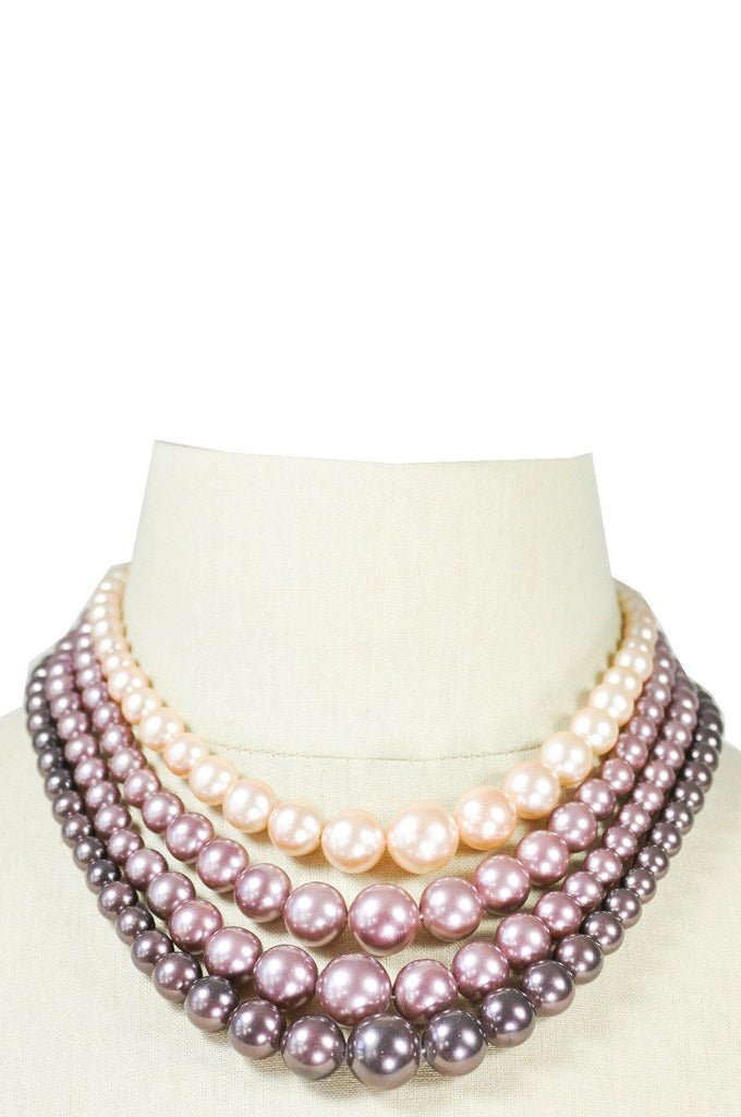 60's__Vintage__Beaded Pearl Necklace