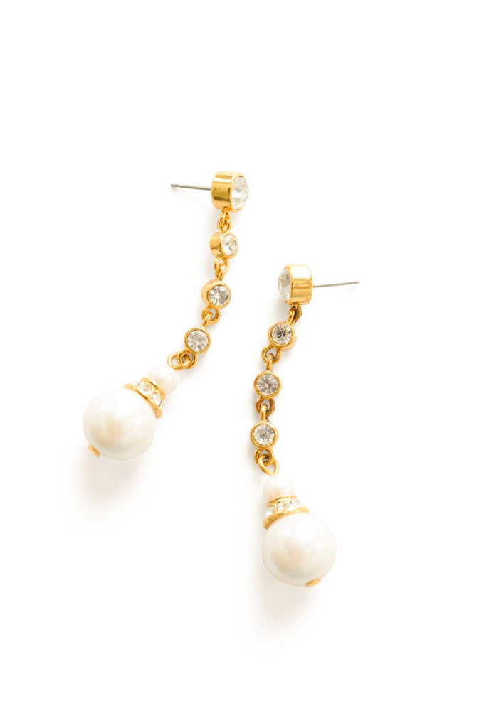 Pearl Strand Pierced Earrings