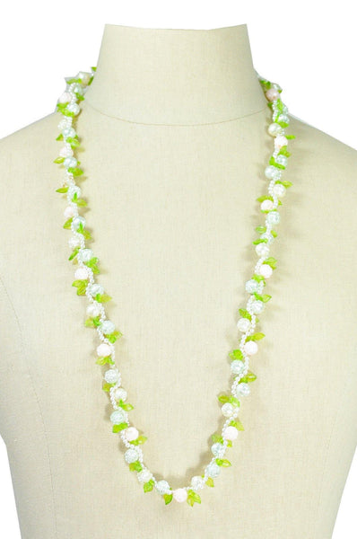 50's__Vintage__Floral Necklace