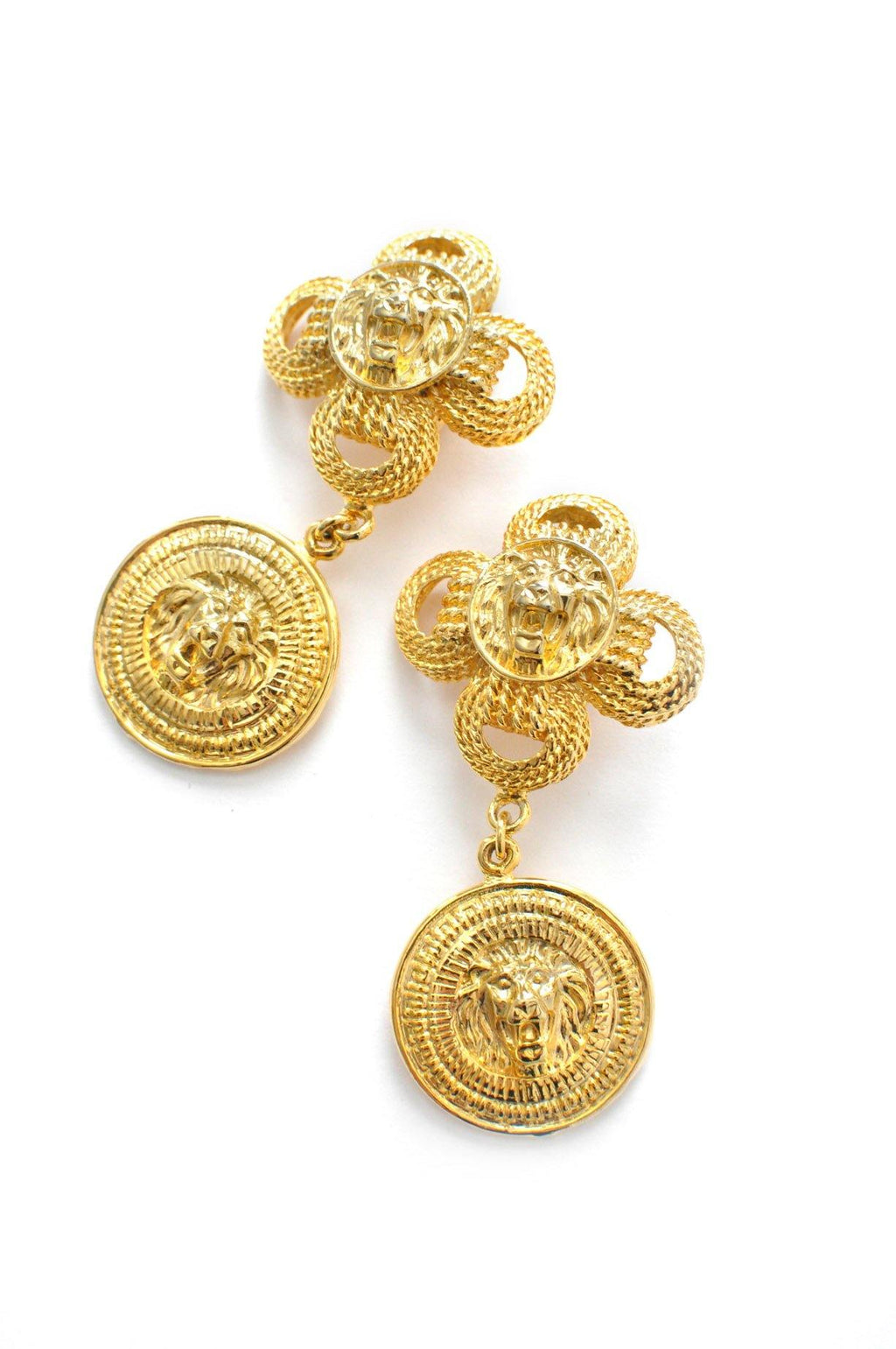 Lion Statement Clip-on Earrings