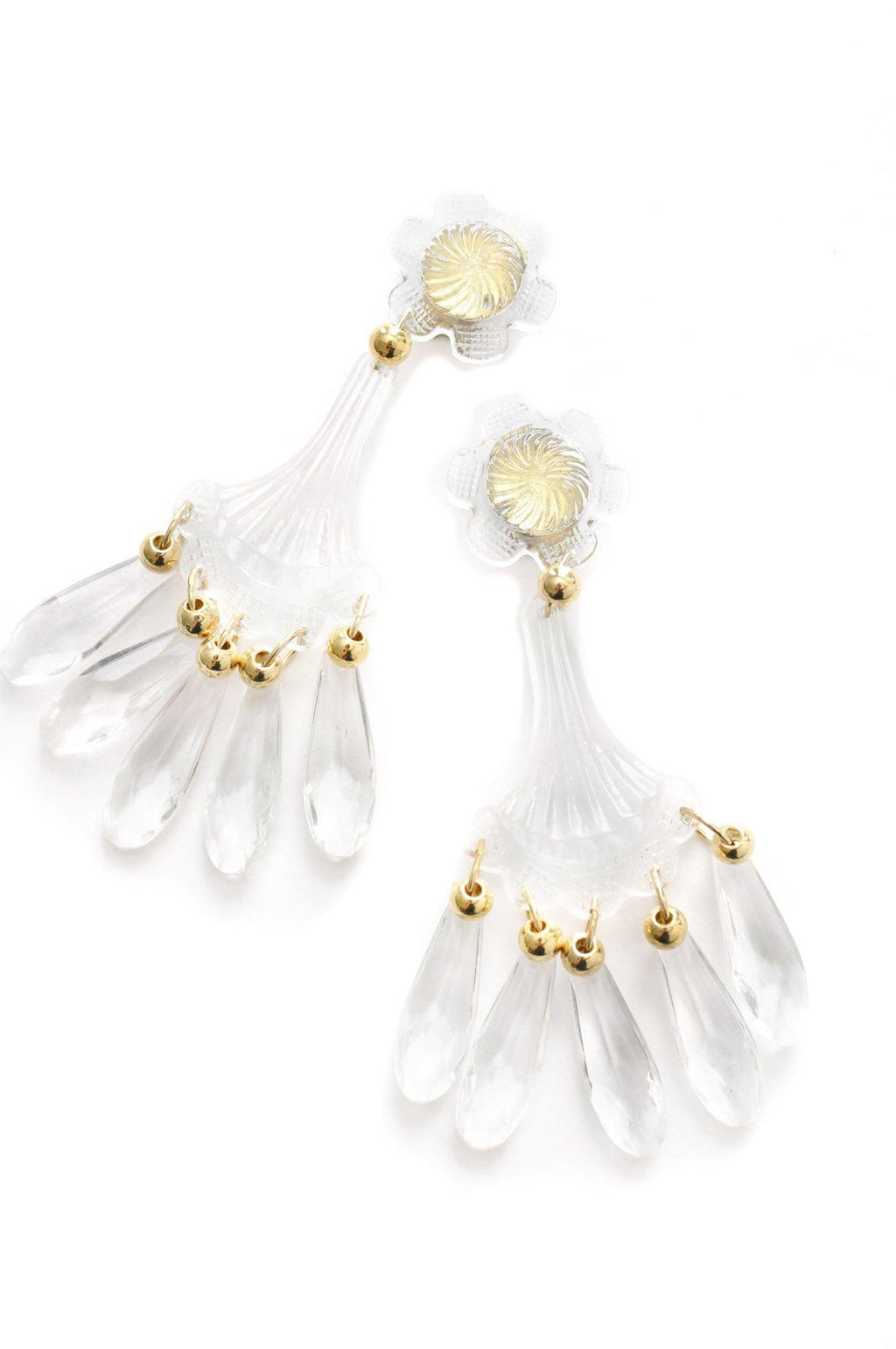 Statement Fringe Clip-on Earrings