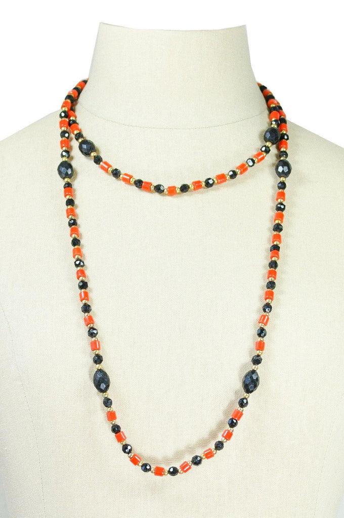 60's__Vintage__Long Beaded Necklace