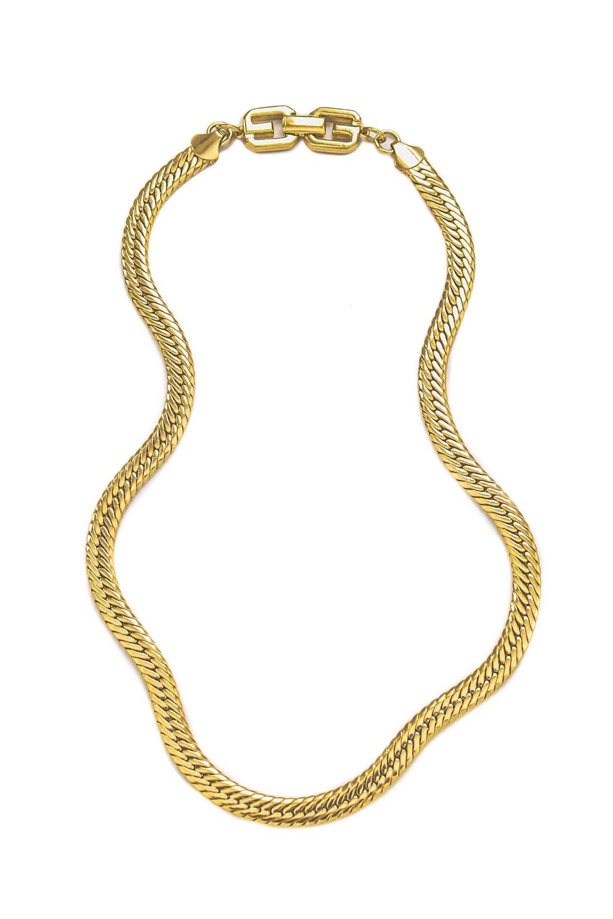 Vintage Givenchy Herringbone Chain Necklace from Sweet and Spark