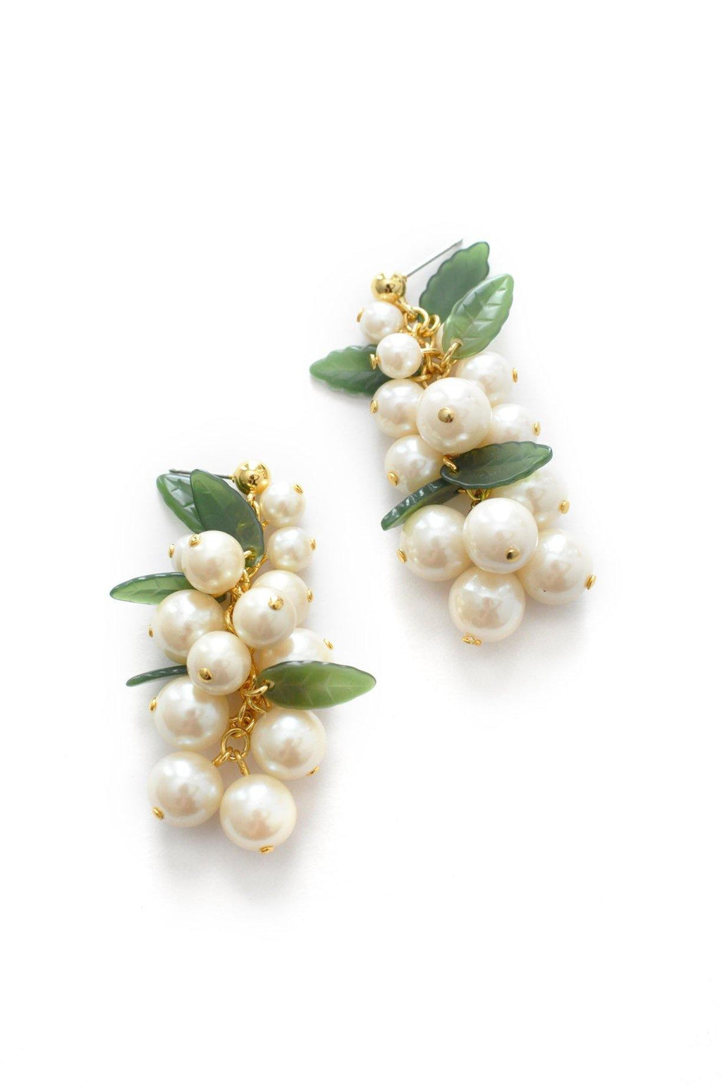 Pearl Bunches Pierced Earrings