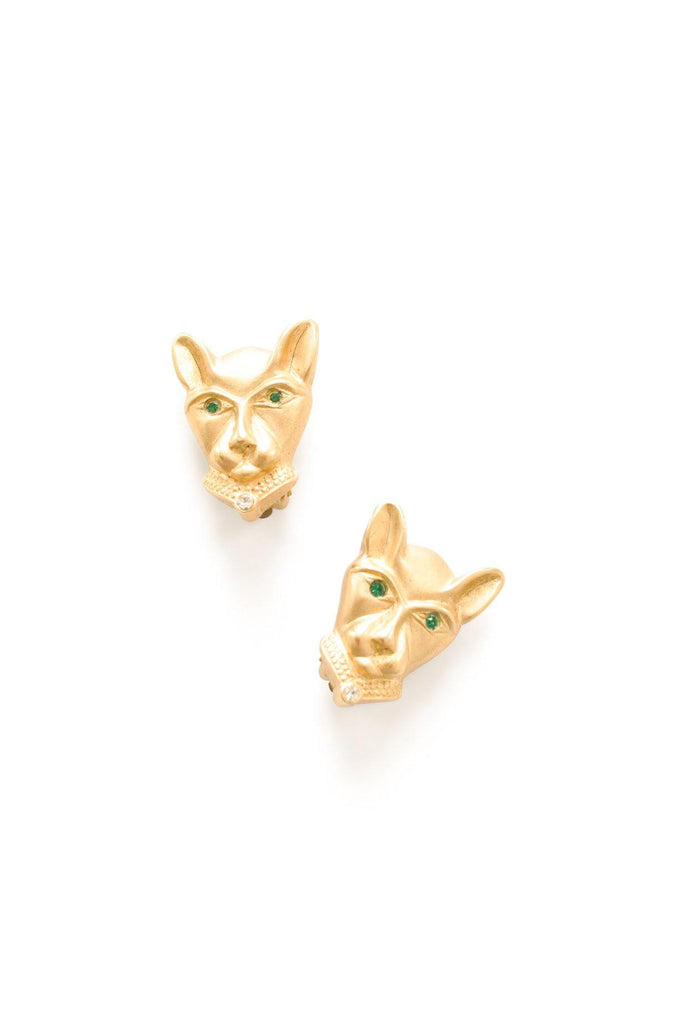 Gold Panther Clip-on Earrings