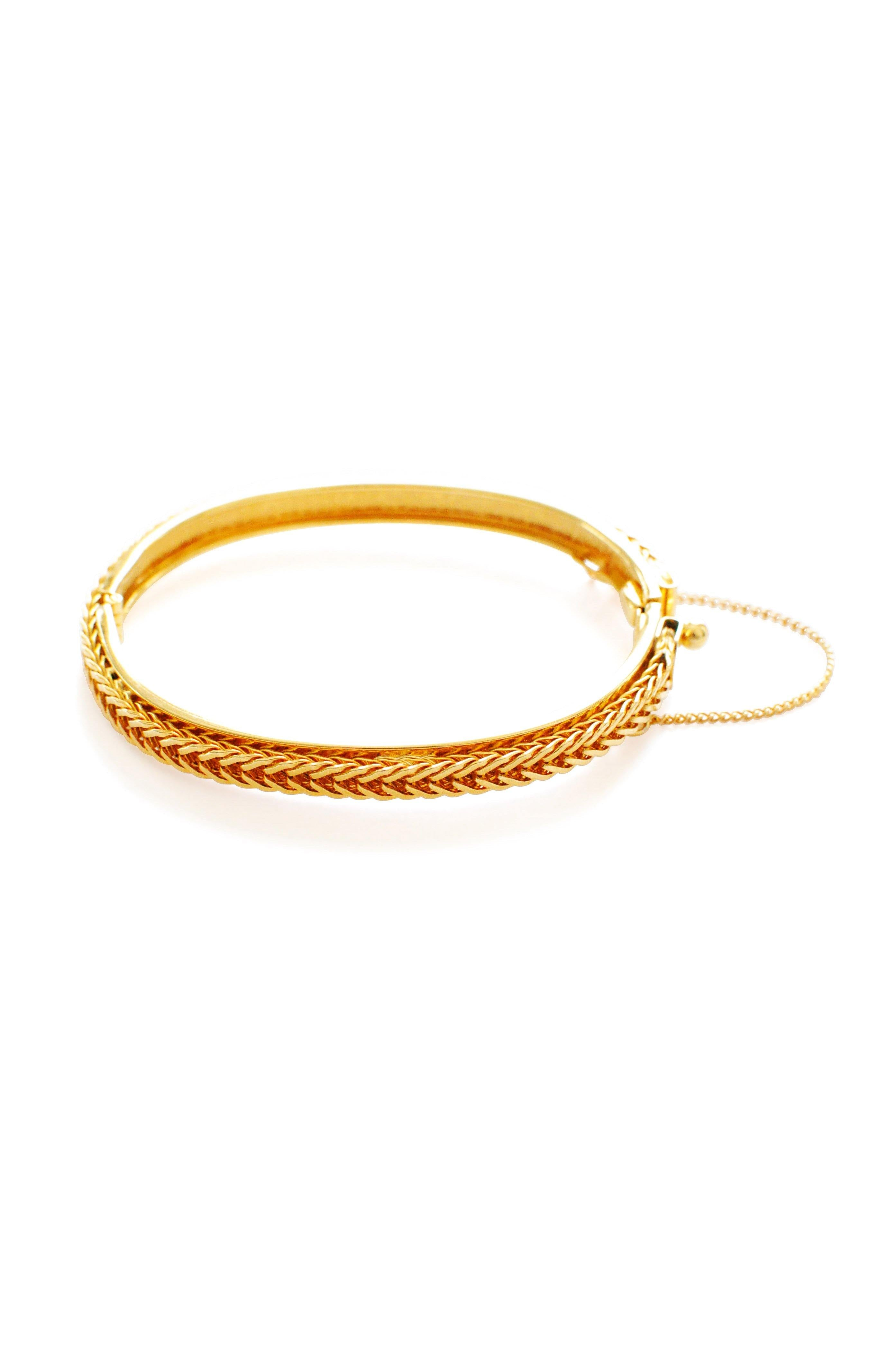 Classic Gold Dainty Bangle