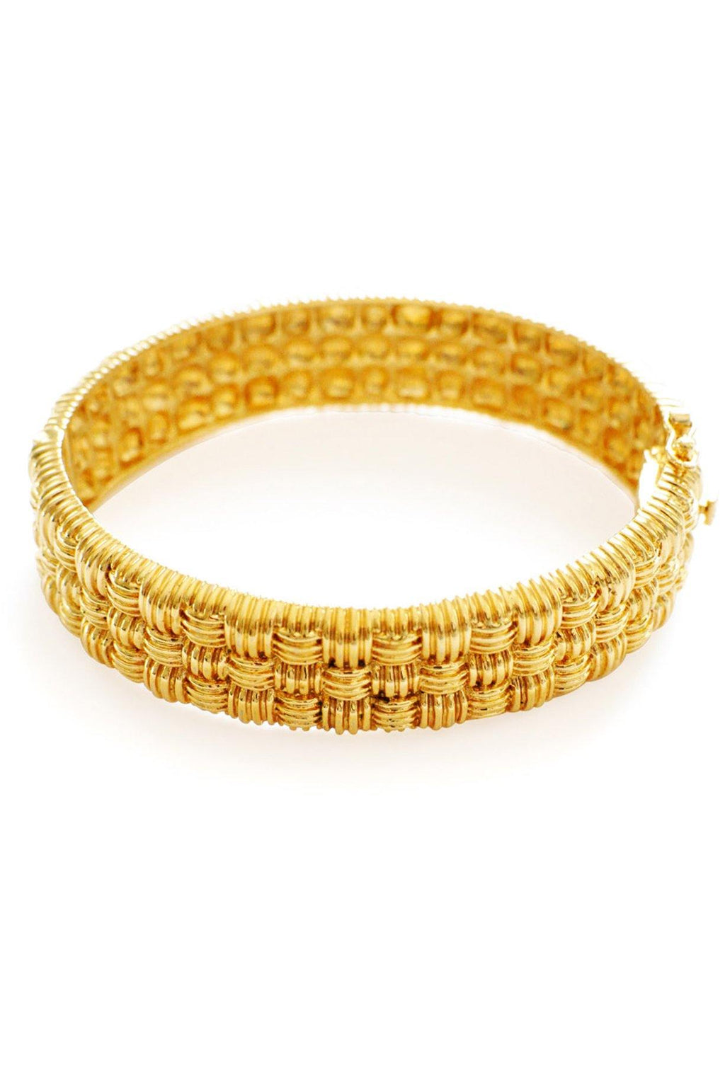 Textured Gold Bangle