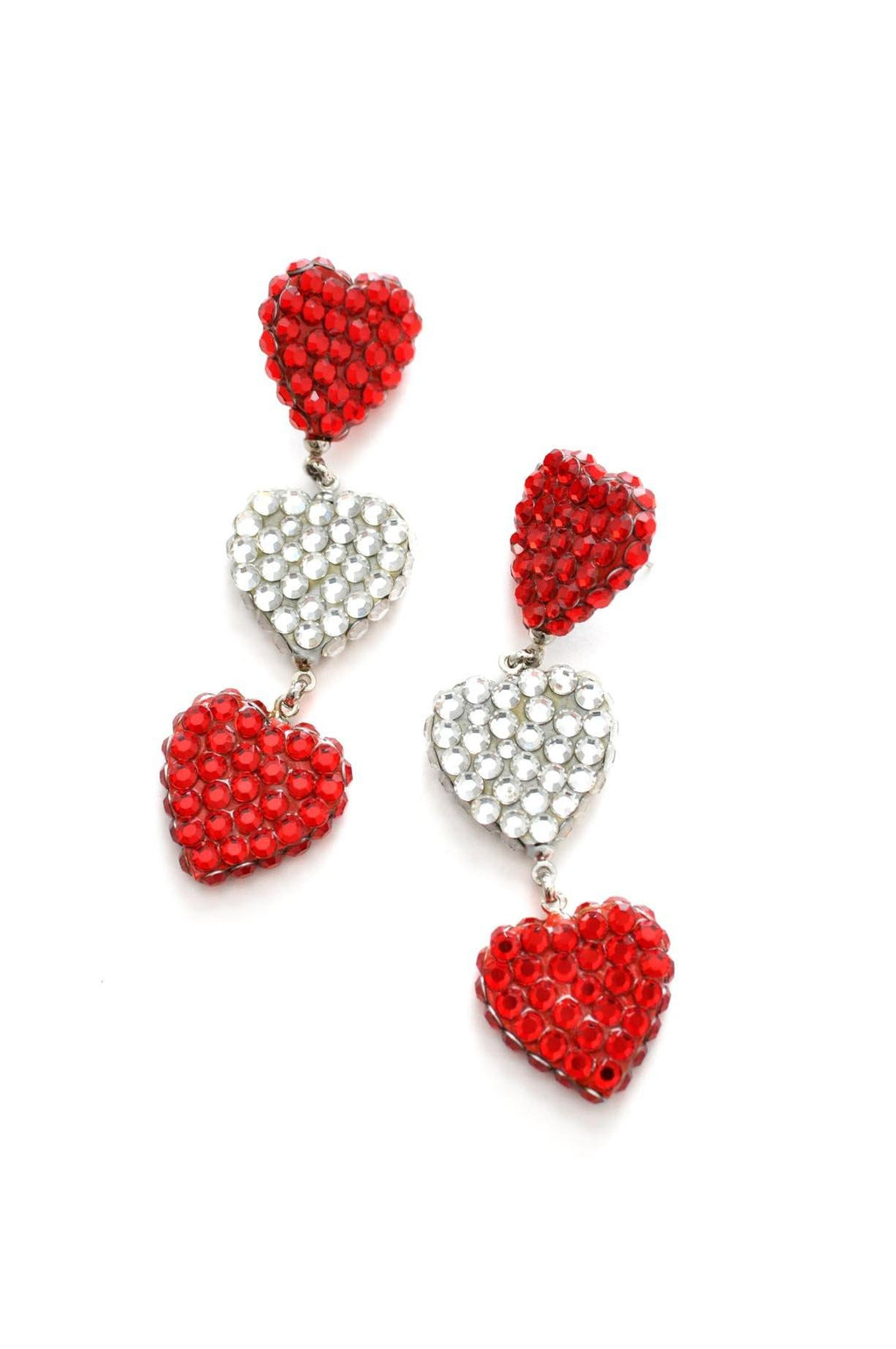 Sequin Heart Pierced Earrings
