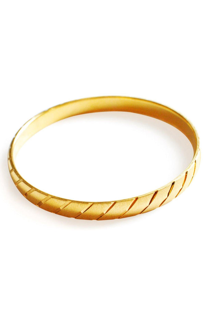 Monet Etched Statement Bangle