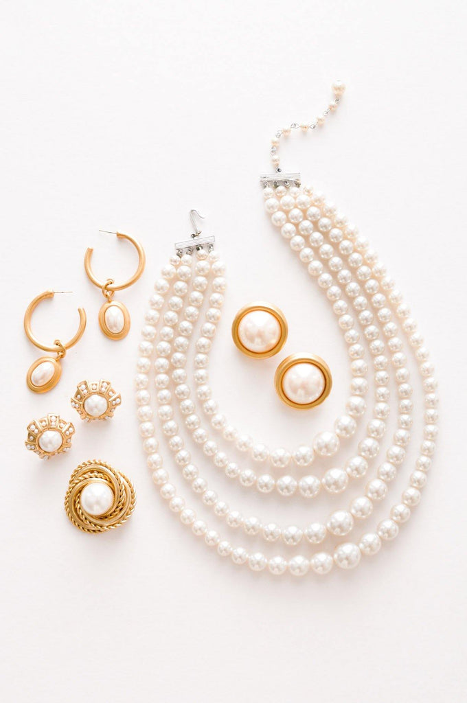 Pearl Drop Pierced Earrings