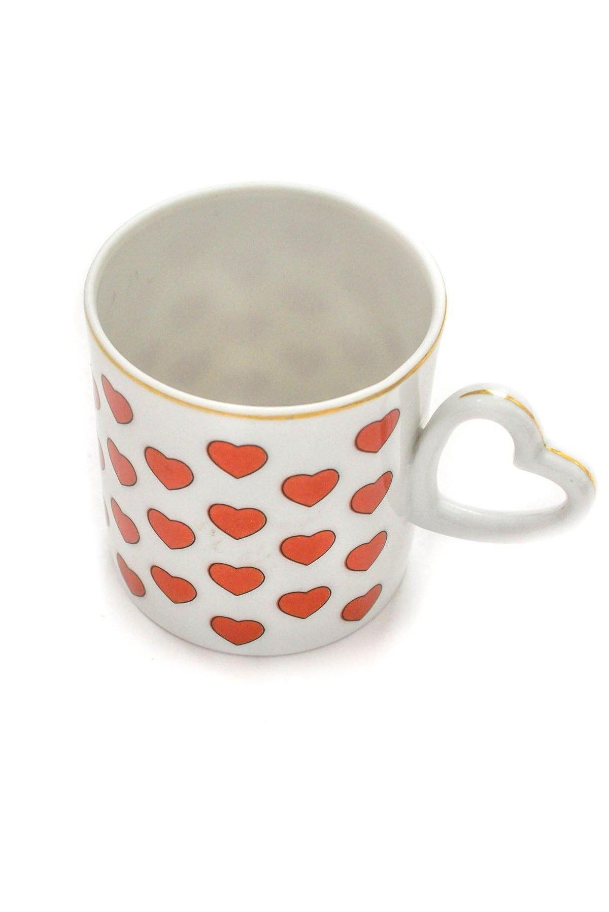Vintage Red Hearts Mug from Sweet and Spark