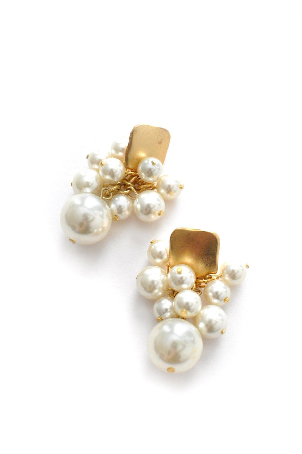 Pearl Fringe Pierced Earrings