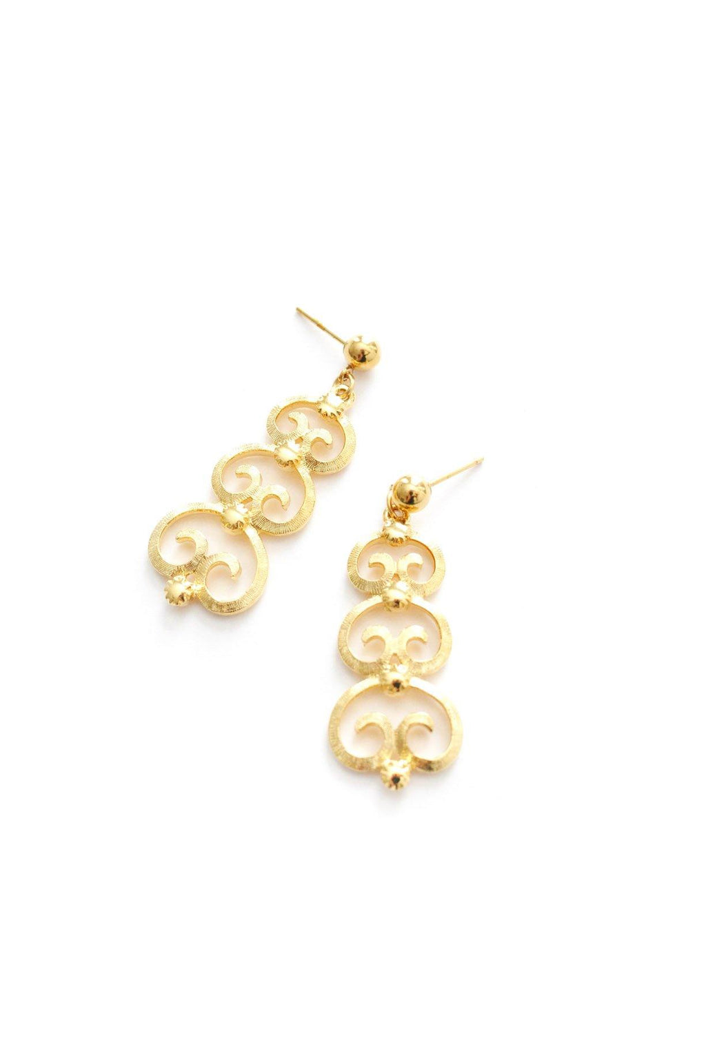 Scrolls Pierced Earrings