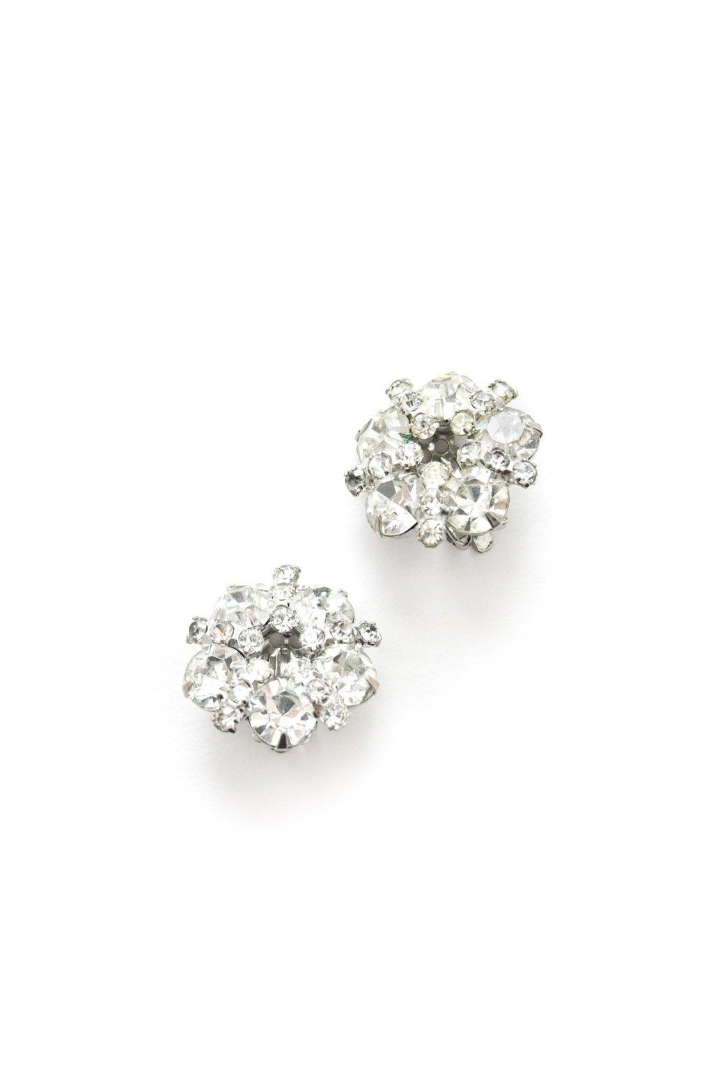 Rhinestone Wreath Clip-on Earrings