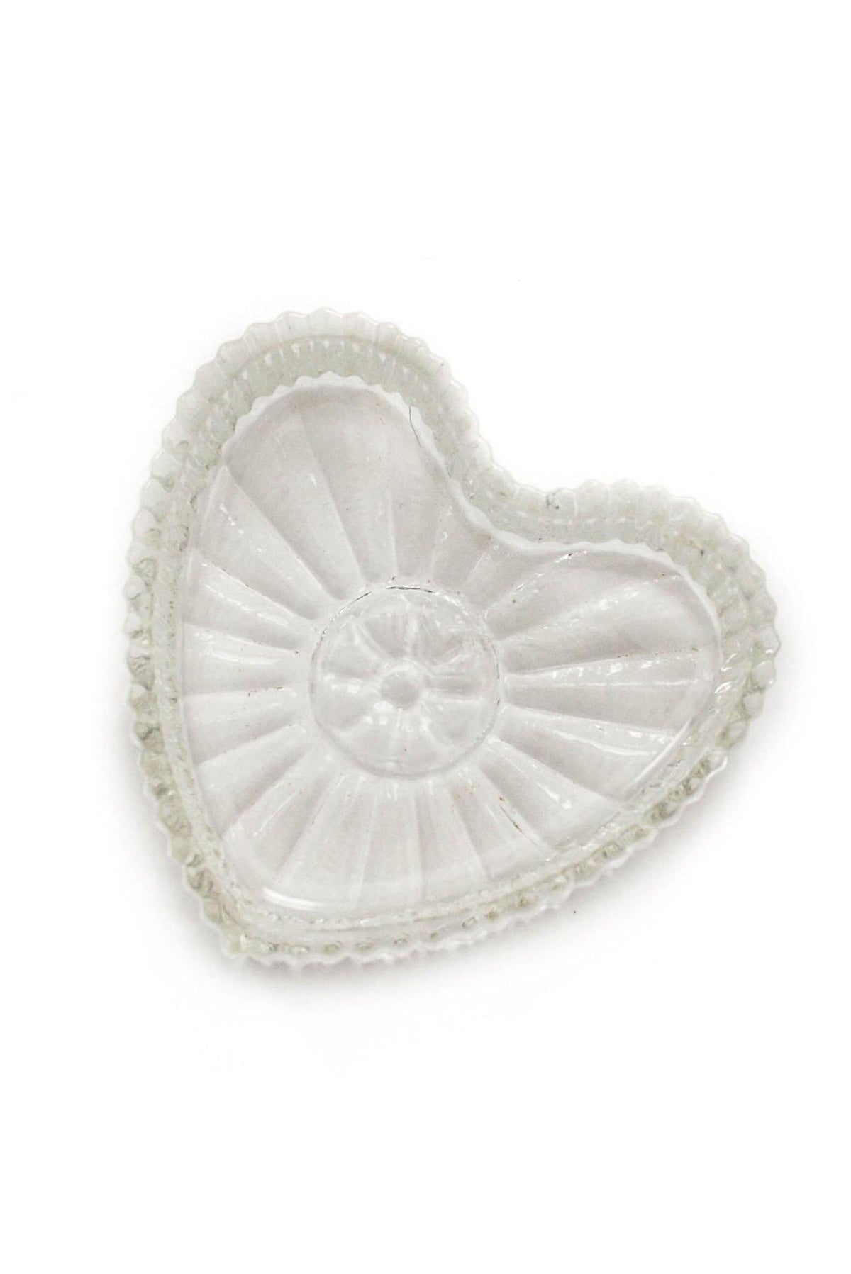 Vintage Mini Glass Heart Tray from Sweet and Spark