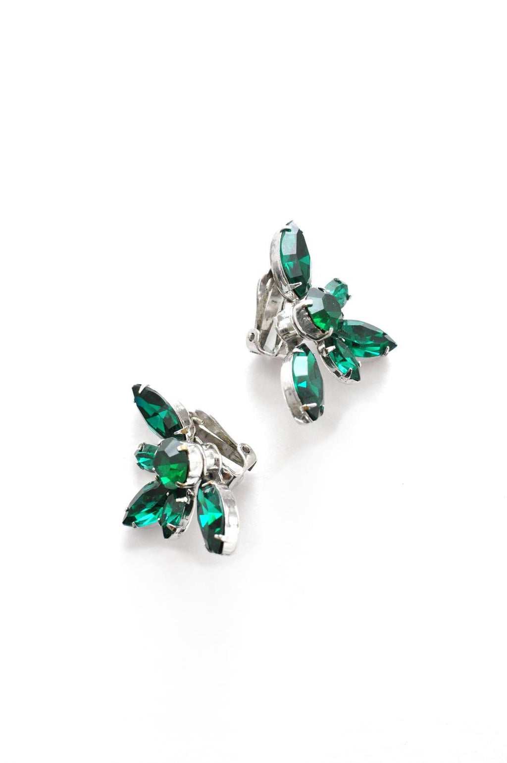 Emerald Green Clip-on Earrings
