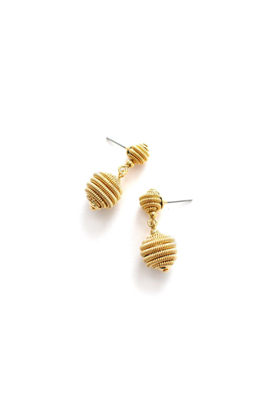 Swirl Pierced Drop Earrings