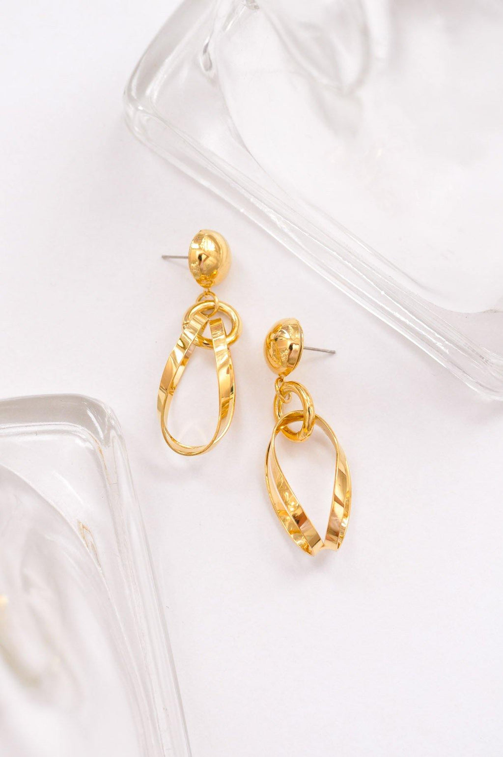 Statement Ribbon Pierced Earrings