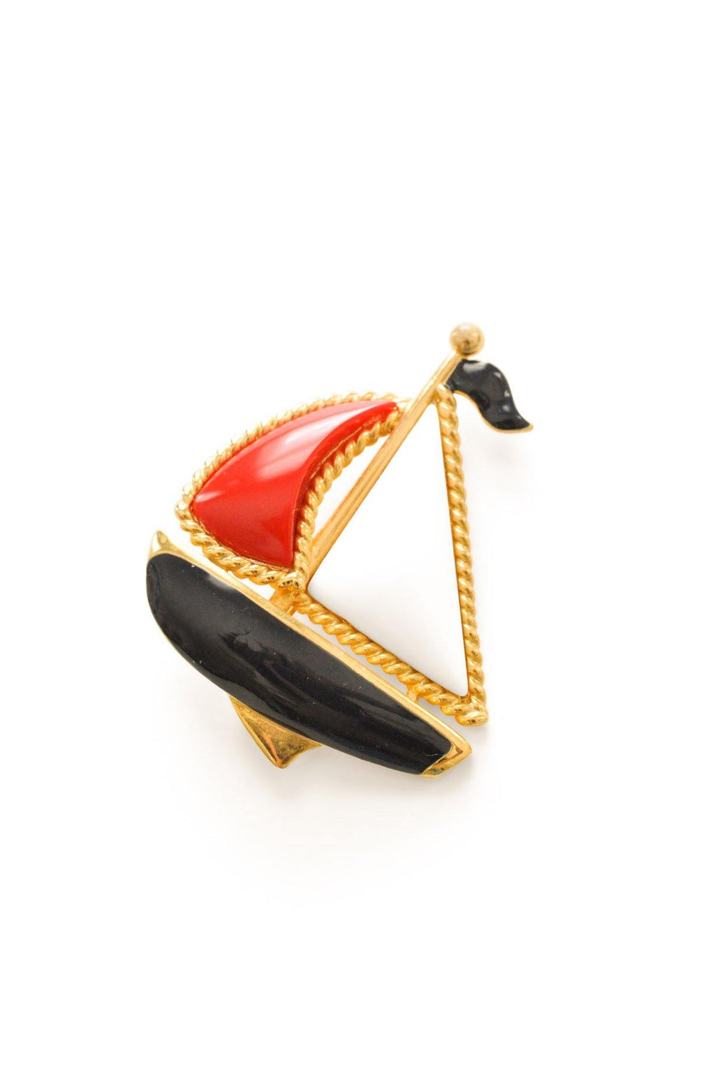 Statement Sailboat Brooch