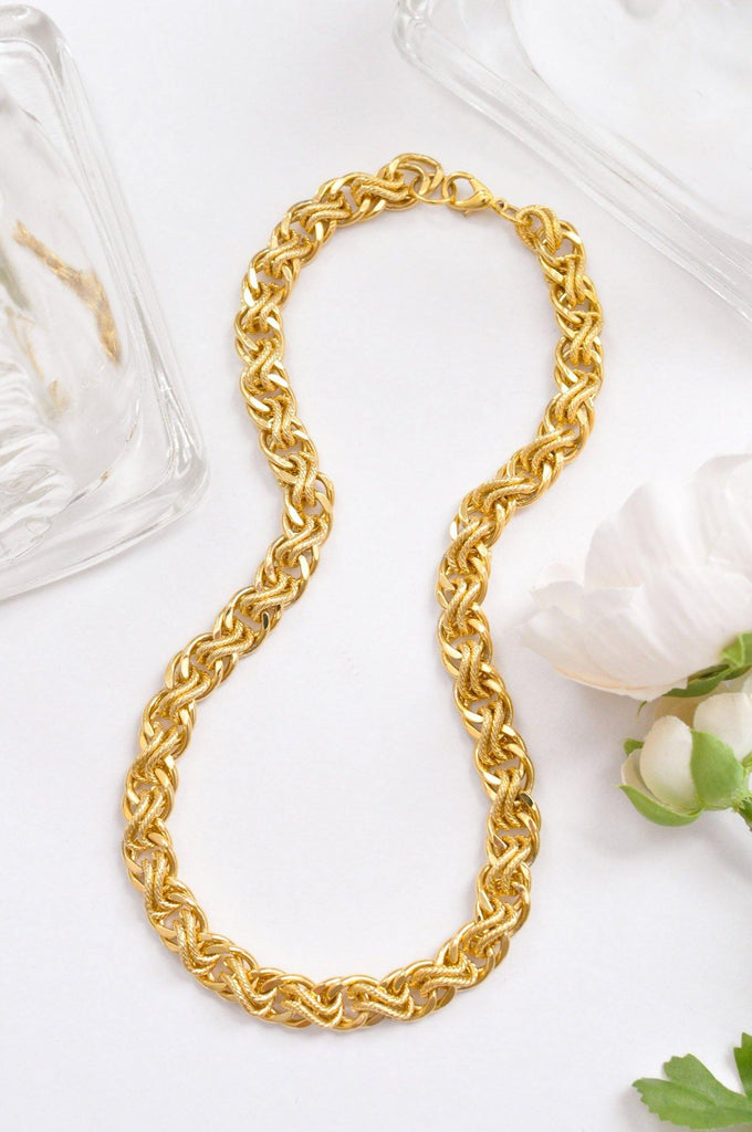 Chunky Multi Chain Link Necklace