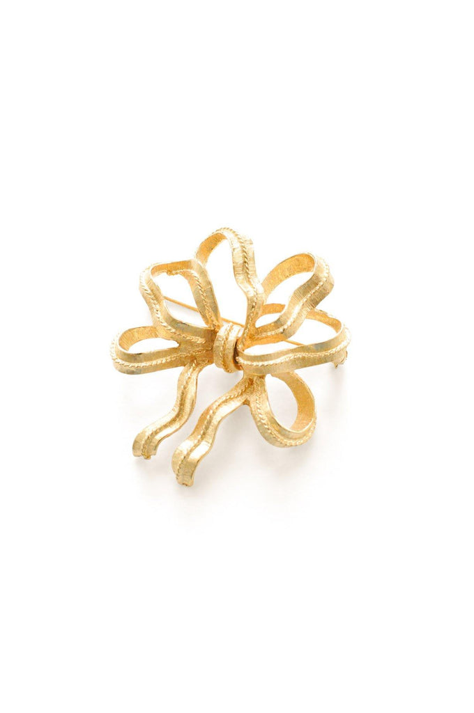 Gold Ribbon Brooch