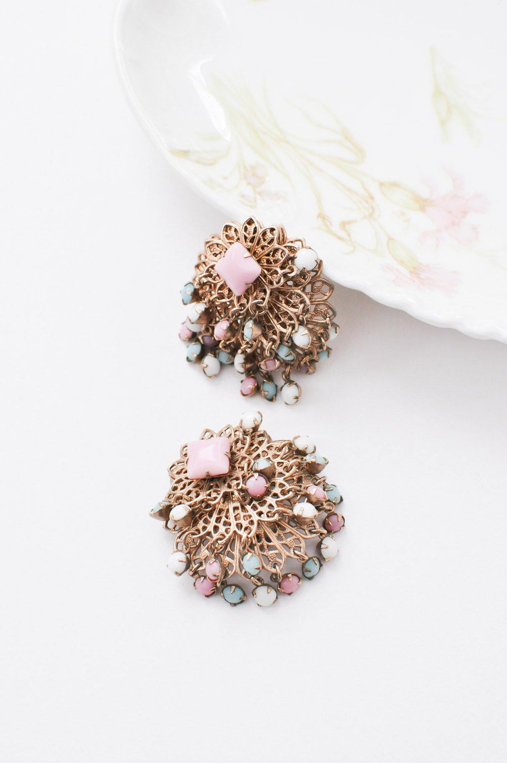 Pastel Fringe Clip-on Earrings