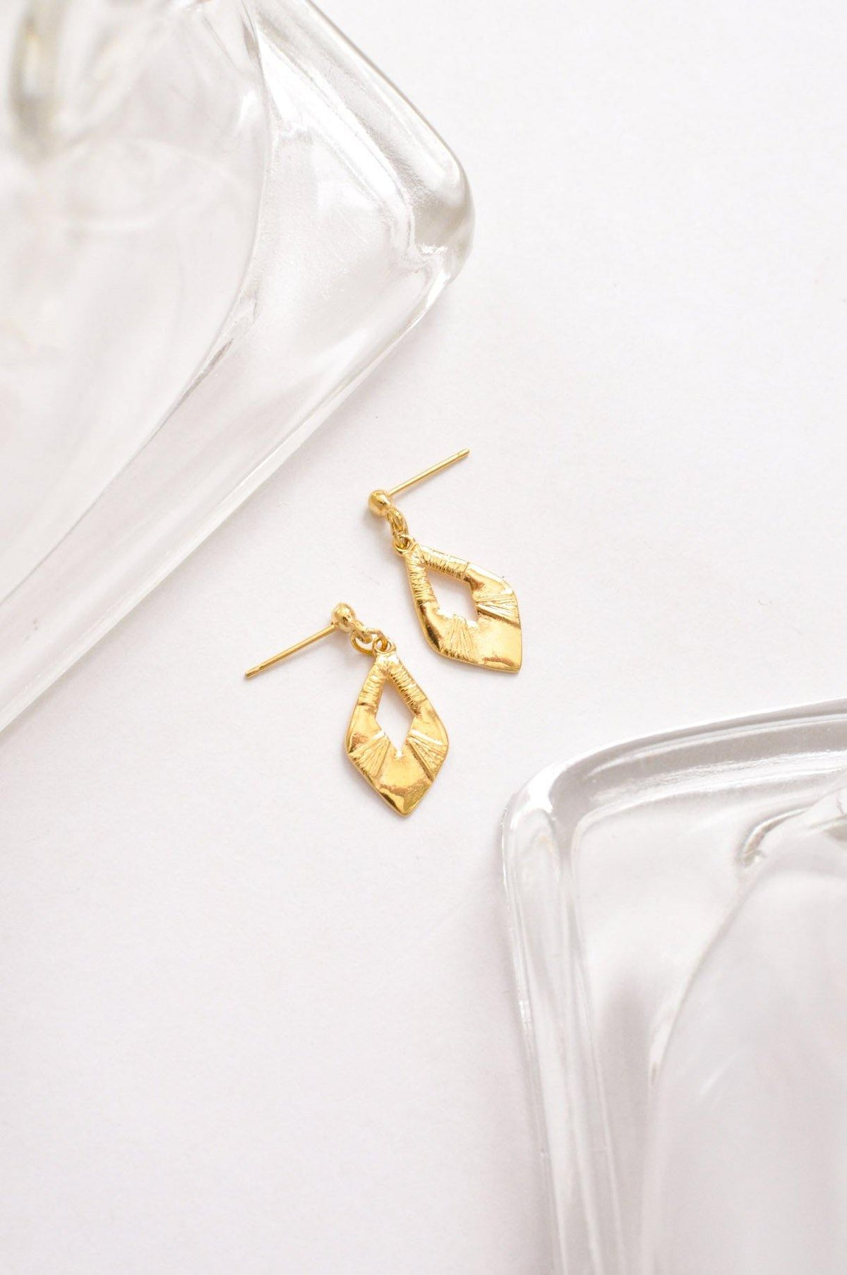 Vintage Dainty Diamond Pierced Earrings from Sweet and Spark.