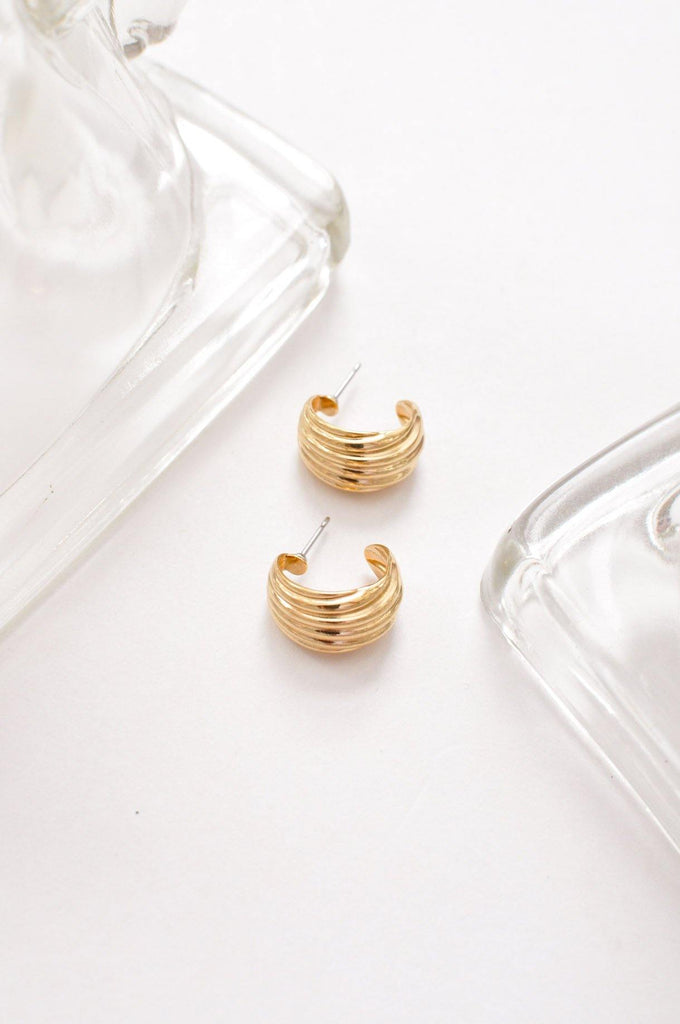 Swooping Mini Hoop Earrings