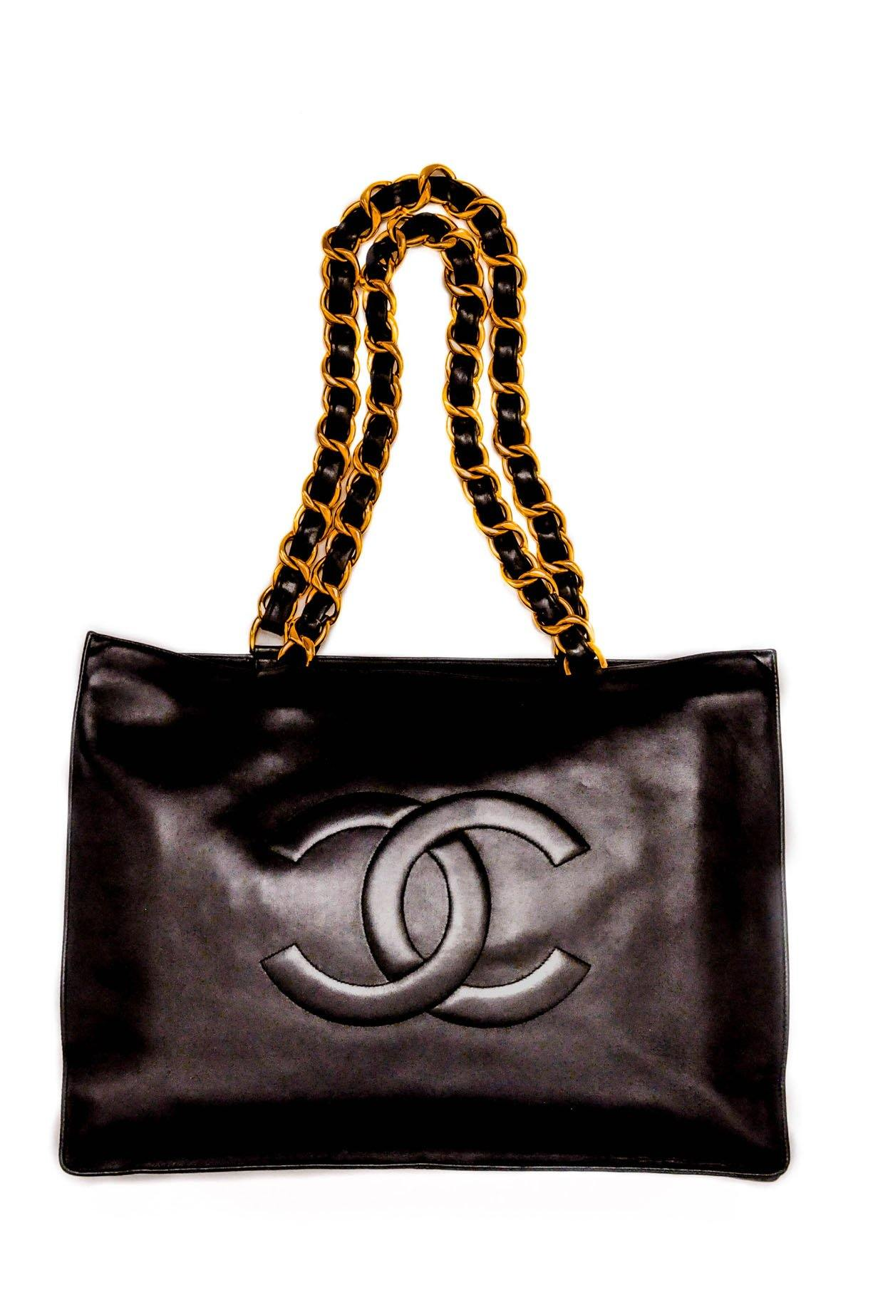 Vintage Chanel Jumbo Tote Bag from Sweet and Spark