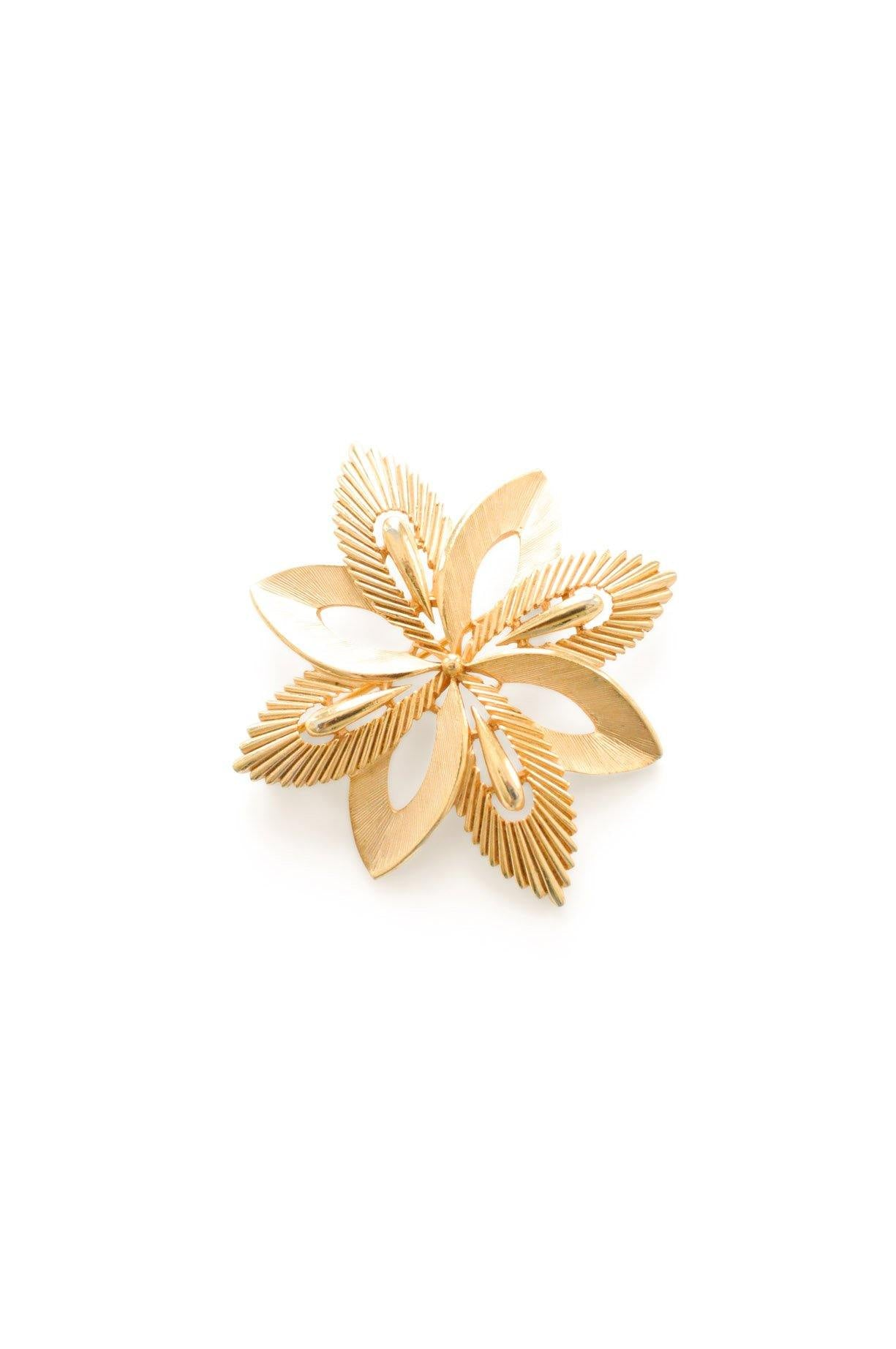 Trifari Gold Floral Brooch