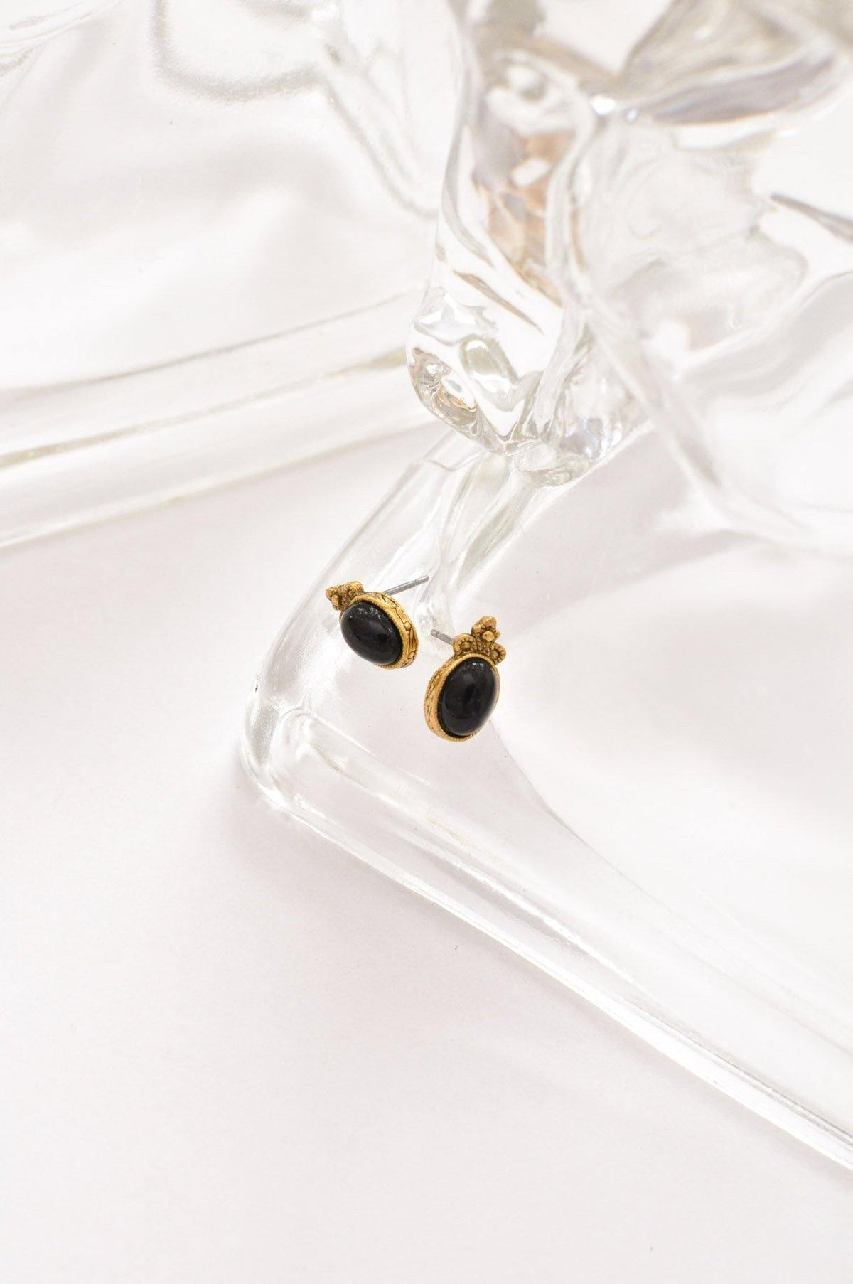 Vintage Black Glass Studs from Sweet and Spark.