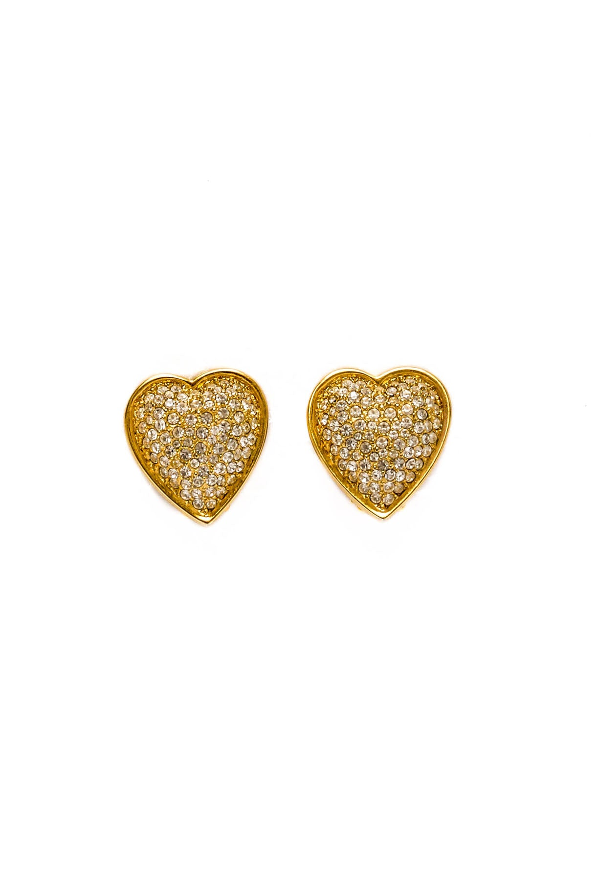 Vintage Carolee Rhinestone Heart Earrings from Sweet & Spark.
